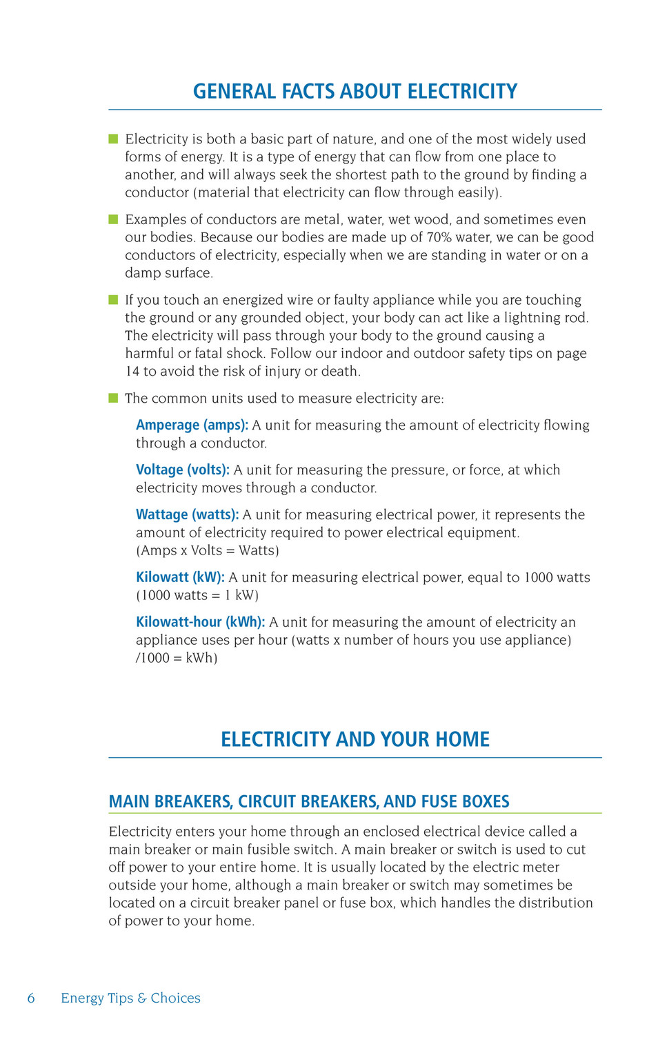 General Facts About Electricity Electricity Is Both A Basic Part Of Nature,  ...